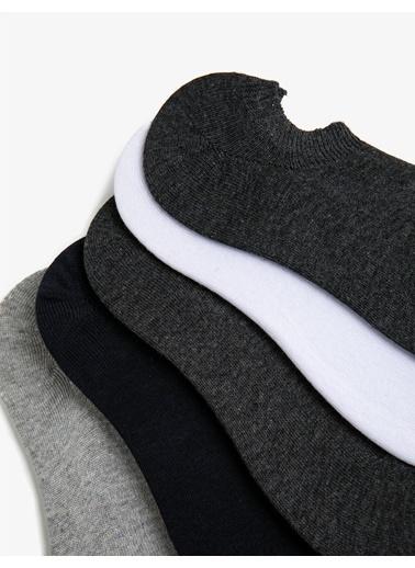 Koton Erkek 5'Li Çorap Seti Beyaz